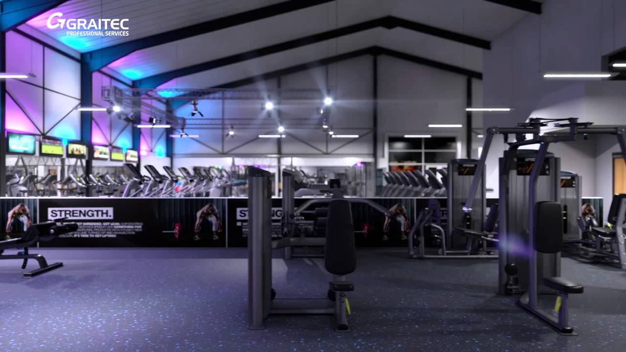 New Age Fitness   Gym Interior Visualisation   YouTube