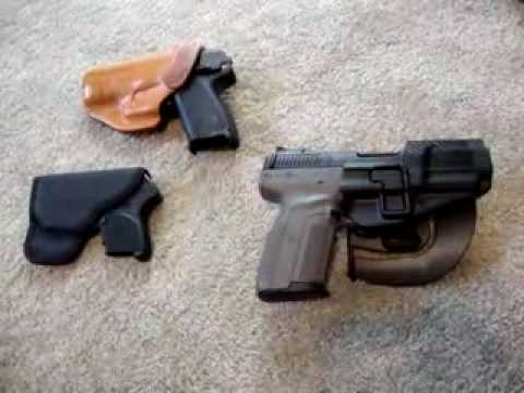 Carry options, Ruger LCP, HK USP Compact 9mm, and FN Five Seven with holsters. - YouTube