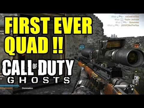 Play COD GHOSTS FIRST EVER QUAD COLLAT with USR SNIPER | 1 bullet 4 kills (4in1)