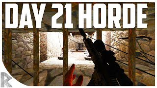 Day 21 HORDE inside DEATH TUNNEL! - 7 Days to Die: War of the Walkers #19