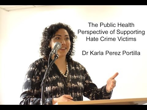 A Public Health Perspective to Supporting Hate Crime Victims