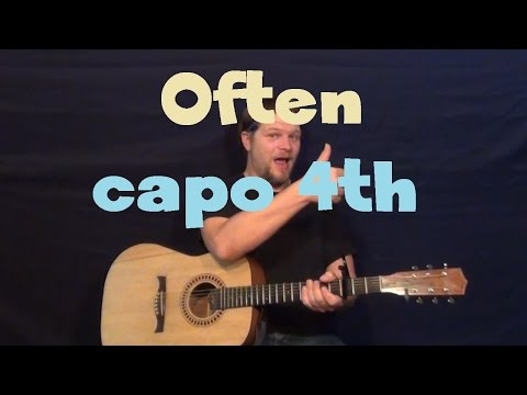 Often (The Weeknd) Easy Guitar Lesson How to Play Tutorial