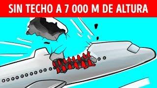 Un avión perdió su techo a 7 000 km de altura,  pero logró aterrizar