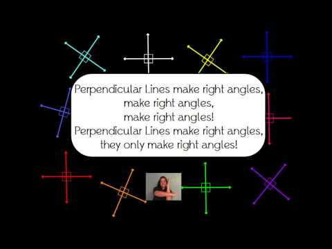 Parallel, Perpendicular, and Intersecting lines song