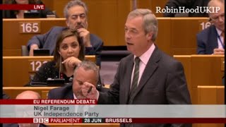 Nigel Farage 20years ago you laughed at me, you are not laughing now