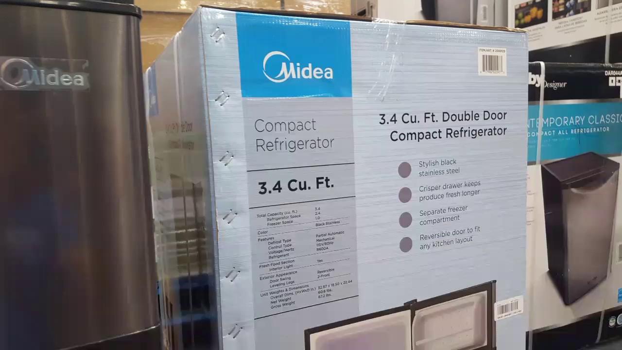 Midea 3.4 Cubic Feet 2 Door Compact Refrigerator $99!