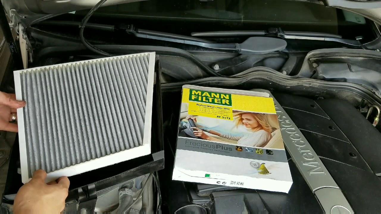 mercedes e320 w211 cabin air filter replacement [ 1280 x 720 Pixel ]