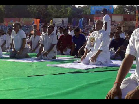 Rajnath Singh & Amit Shah at yoga session : NewspointTV