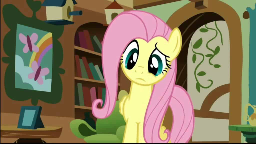 Fluttershy! Youre nude! -Rarity (Δ studio laughter