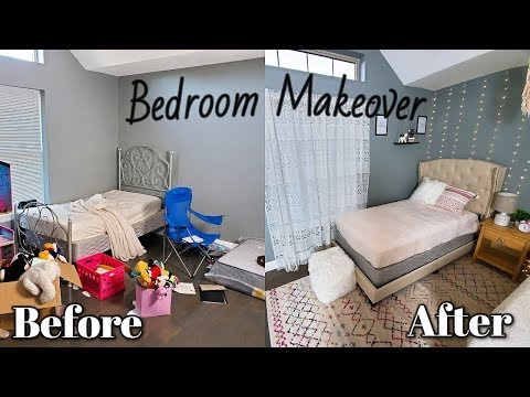 Extreme Bedroom Makeover/ Transformation  On  A Budget | Room Tour 2019 | Aesthetic Room Makeover