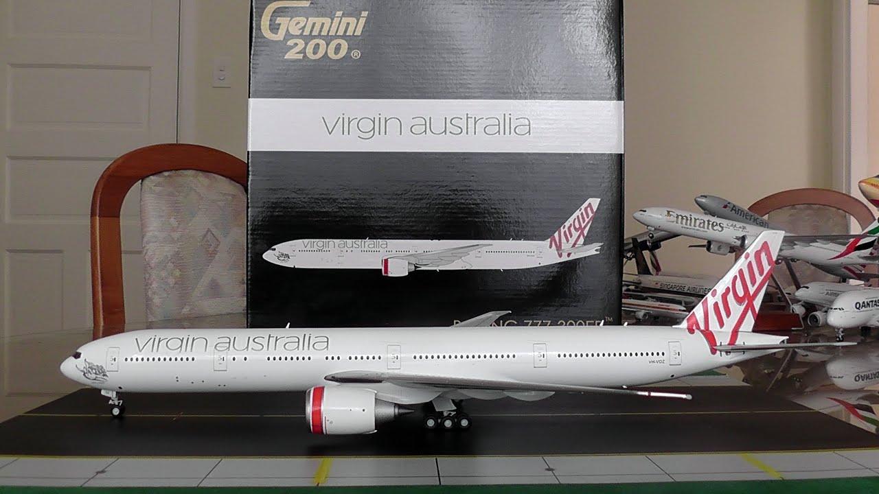 Gemini Jets 1:200 Virgin Australia 777-300ER Unboxing and Review