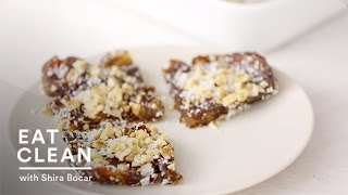 No-bake Coconut Date Bars - Eat Clean With Shira Bocar