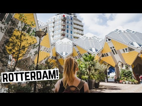 WELCOME TO ROTTERDAM! -  Cube Houses, Cycling & Dutch House Tour (Rotterdam, Netherlands)
