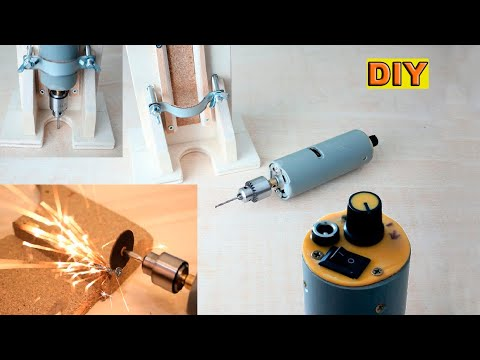 DIY: Powerfull Mini Dremel Drill with Router Base