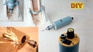 DIY: Powerfull Mini Drill with Router Base