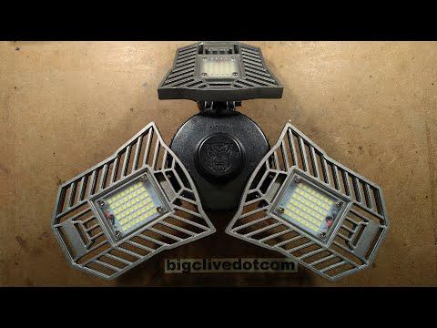 Inside a deformable LED robot lamp.