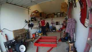 Harbor Freight Folding Trailer Build Part 1 - Frame And Supension Assembly