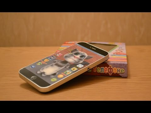 Детский интерактивный телефон Айфон Кот Том