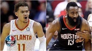 James Harden's streak ends, Trae Young scores career-high 36, Rockets top Hawks   NBA Highlights