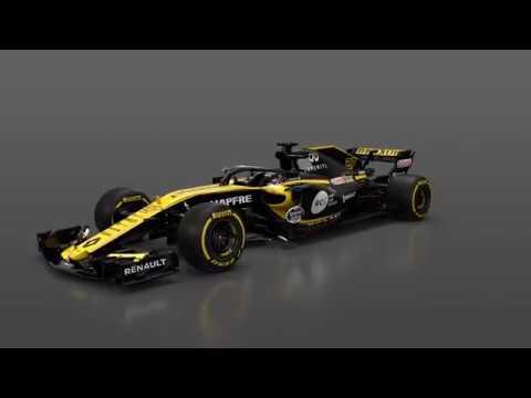 f1 2018 renault f1 rs18 launch car 360 youtube. Black Bedroom Furniture Sets. Home Design Ideas