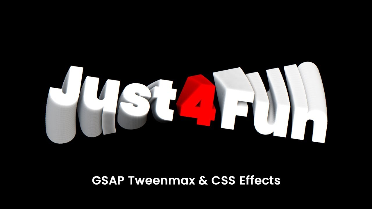 GSAP Tweenmax & CSS Mousemove  Effects | 3D Twirl Text Effect