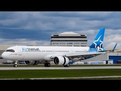Air Transat Airbus A321neo (A21N) Departing & Landing Montreal (YUL/CYUL)
