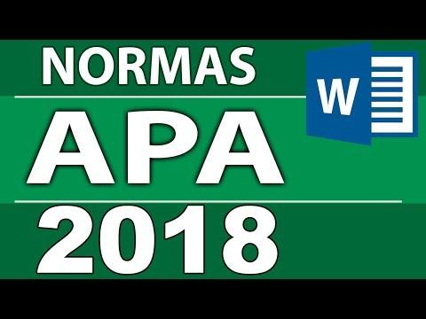 Normas APA 2018 - 6ta (sexta) edición para  tesis, monografías, informes.