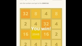 Win '2048' Game : Tips & Tricks / Demonstration