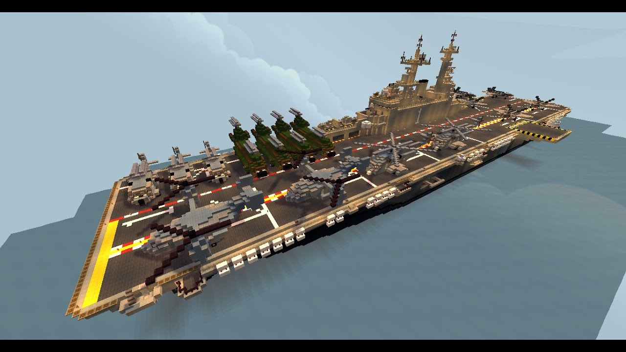 Creaciones Minecraft Uss Wasp Lhd 1 Youtube