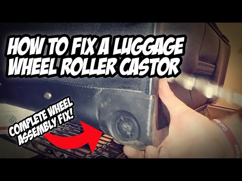 How to Fix a complete wheel roller castor Samsonite suitcase, travel luggage step by step