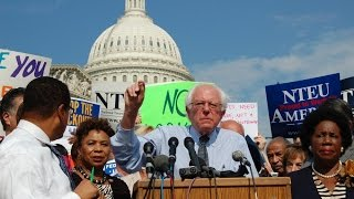 Bernie Sanders - The Only White Guy to Show Up...