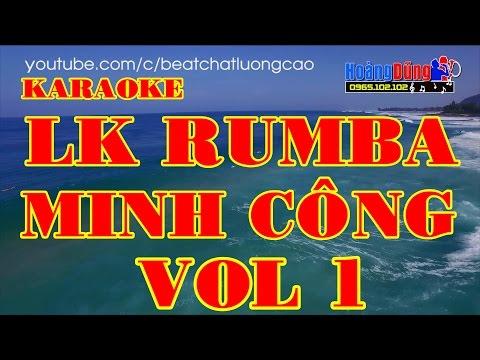 KARAOKE - LK Rumba Sầu Tím Thiệp Hồng   Nhạc Sống Minh Công Vol1   Cực Hay  Beat chất lượng cao