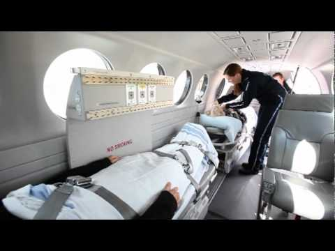 Hawker Beechcraft King Air 350ER Air Ambulance Video with Spectrum Aeromed Equipment