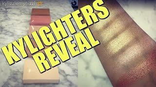 Kylie Cosmetics Kylighters Reveal & Swatches!
