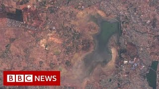 City where drought is visible from space- BBC News
