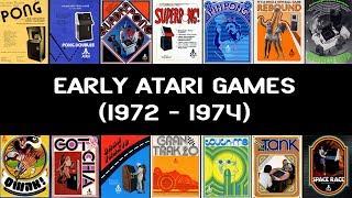 Early Atari Games (1972 - 1974)