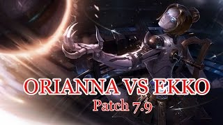 Orianna Mid vs Ekko - League of Legends Gameplay - Patch 7.9