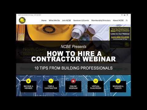 NCBE How to Hire a Contractor Webinar