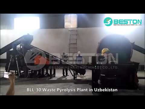 BLL-30 Fully Continuous Waste Pyrolysis Plant in Uzbekistan