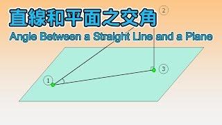 直線和平面之交角