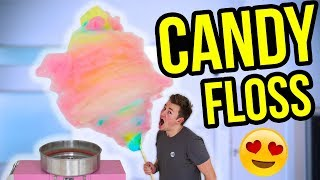 MAKING THE WORLD'S BIGGEST RAINBOW UNICORN COTTON CANDY FLOSS