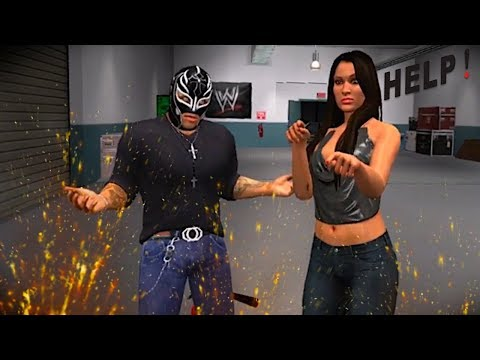 REY MYSTERIO RESCUES NIKKI BELLA! - WWE SmackDown vs RAW Road to WrestleMania (SvR 2011)