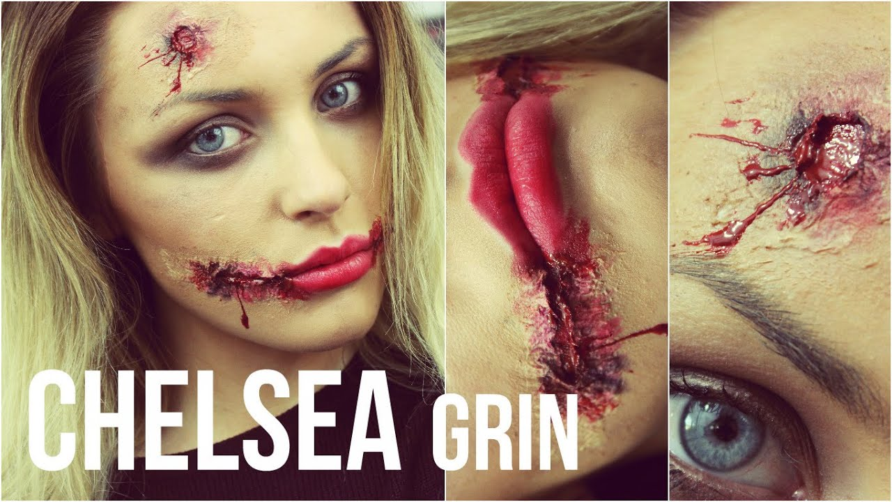 Halloween Makeup Tutorial: Chelsea Grin / Glasgow Smile - YouTube