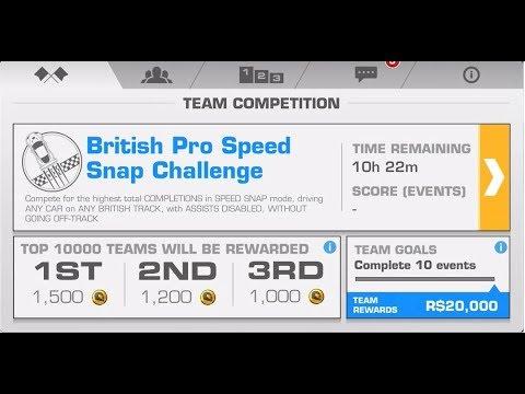 TC British Pro Speed Snap Challenge 4 Races 15sec. 1 run.