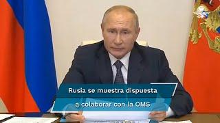 Putin dijo que su gobierno está listo para ofrecer a la ONU toda la asistencia necesaria, lo que incluye vacunación gratis contra el Covid-19 para todo el personal que lo desee