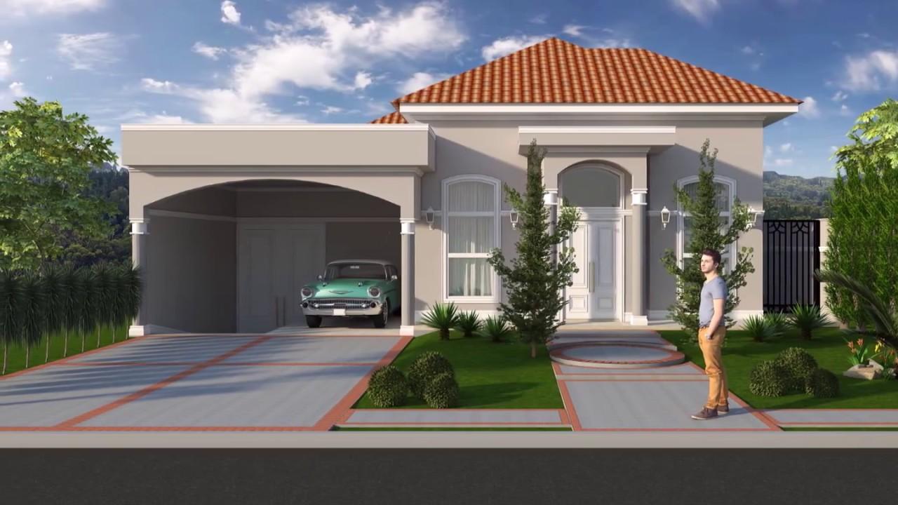 Projeto casa t rrea estilo neocl ssico americano em for Casa modelo americano