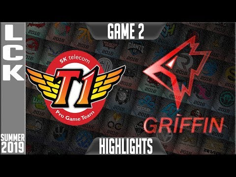 SKT Vs GRF Highlights Game 2 | LCK Summer 2019 Week 3 Day 4 | SK Telecom T1 Vs Griffin G2