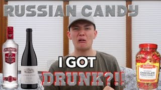 getting drunk british trying russian candy