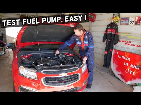 HOW TO TEST FUEL PUMP ON CHEVY, CHEVROLET, GMC, BUICK, CADILLAC  CAR NTO STARTING