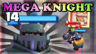 BOOSTED LEVEL 14 MEGA KNIGHT VS LEVEL 10🍊